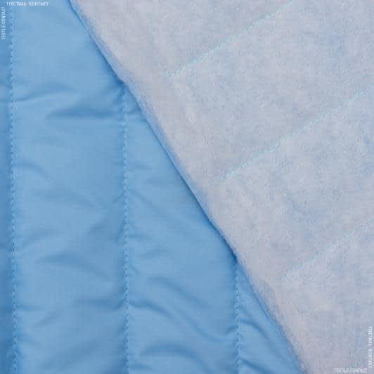 Тканини для верхнього одягу - Плащова фортуна стьобана з синтепоном блакитний