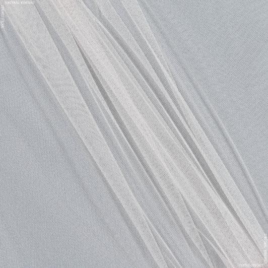 Ткани для платьев - Фатин бело-персиковый