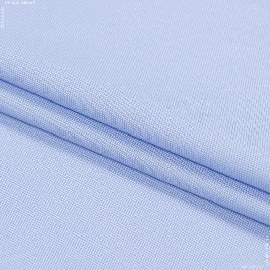 Тканини для блузок - Сорочкова рогожка блакитний