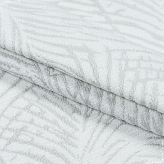 Тканини портьєрні тканини - Декоративна тканина ватсон листя/watson тон св.сірий