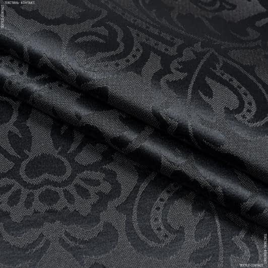 Ткани для скатертей - Ткань с акриловой пропиткой висконти черный