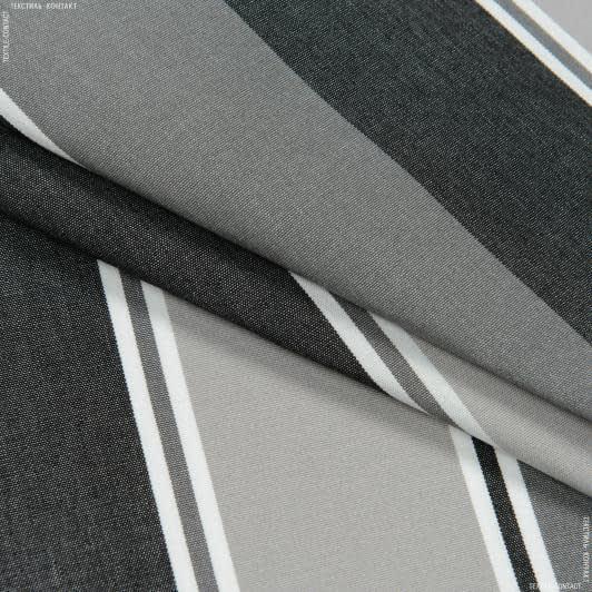 Ткани портьерные ткани - Дралон полоса  / серый, черный  FRBS1