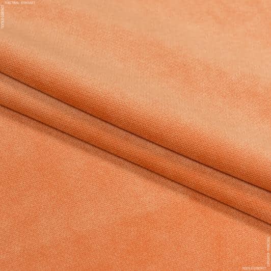 Ткани для мебели - Велюр будапешт/budapest  мандарин