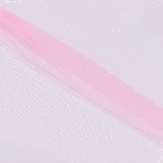 Ткани для платьев - Фатин мягкий розовый