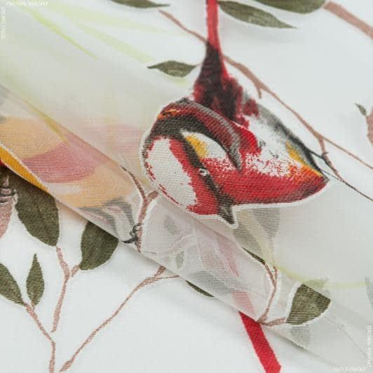 Тканини гардинні тканини - Органза випал КОЛІБРІ кольоровий з обважнювачем