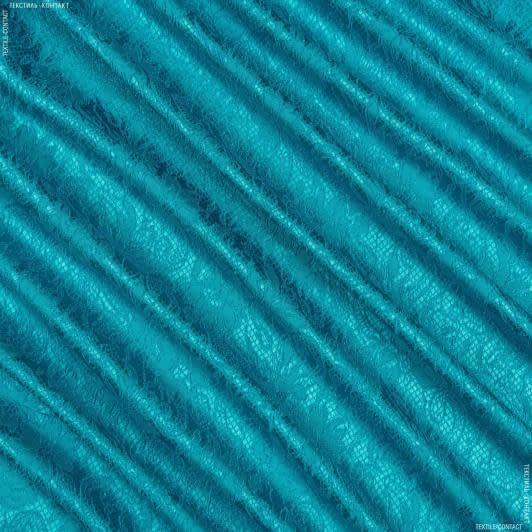 Тканини для костюмів - Костюмна фукро жакард бірюзовий