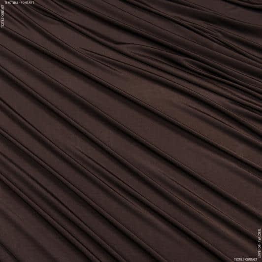 Тканини для суконь - Трикотаж масло темно-коричневий