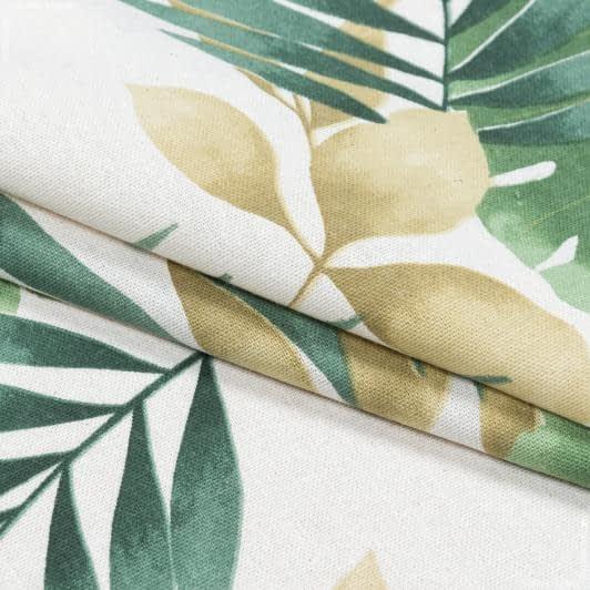 Тканини портьєрні тканини - Декоративна тканина листя богеміан зелений