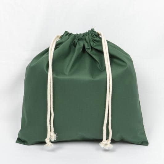 Ткани экосумка - Мешочек саржа зеленый 40х40