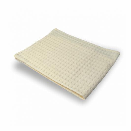 Ткани махровые полотенца - ПОЛОТЕНЦЕ ВАФЕЛЬНОЕ 40х60 МОЛОЧНЫЙ