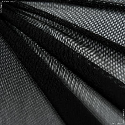 Ткани для детской одежды - Сетка стрейч черный
