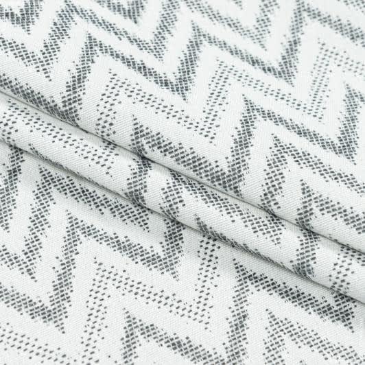 Тканини портьєрні тканини - Декоративна тканина стокгольм зігзаг / сірий