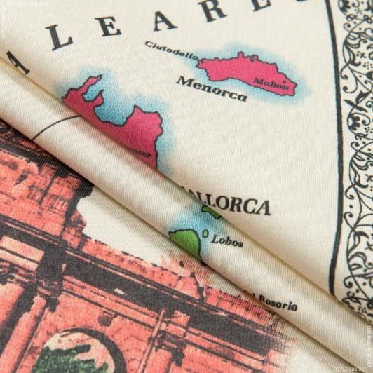 Тканини для скатертин - Тканина з акриловим просоченням карта іспанія купон