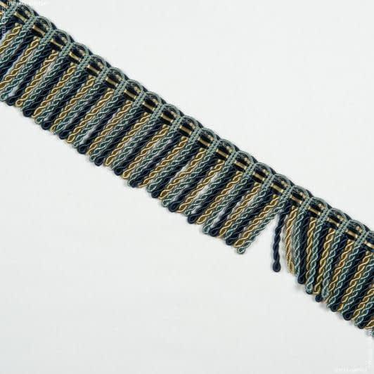 Бахрома имеджен спираль сине-голубой 52805  – купить в Киеве, цена ткани в Украине | Интернет магазин Текстиль Контакт
