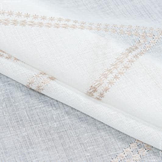 Тканини гардинні тканини - Тюль з обважнювачем марсела вишивка/marsella / беж