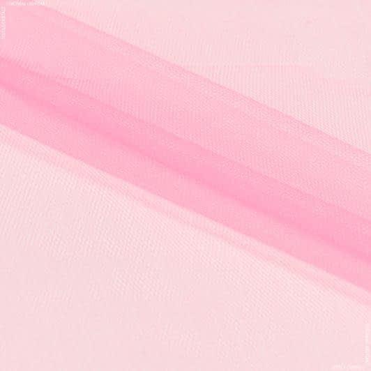 Ткани для блузок - Фатин мягкий ярко-коралловый
