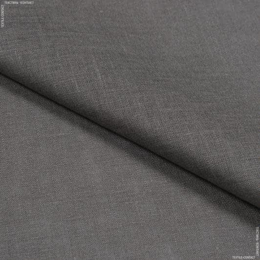 Тканини для суконь - Льон сіро-графітовий