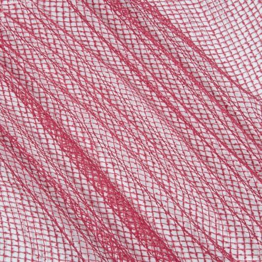 Ткани для драпировки стен и потолков - Тюль сетка  элиза  малина