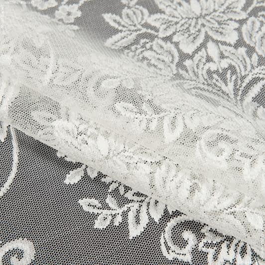 Тканини гардинні тканини - Гардинне полотно гіпюр рейн слонова кістка