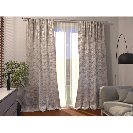 Ткани готовые изделия - Декоративная штора кварц/т.серый,серый 150/270 cm