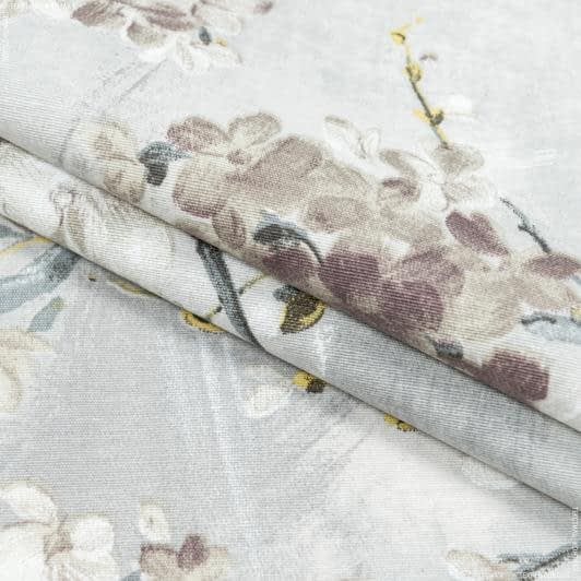 Тканини для скатертин - Тканина з акриловим просоченням муракамі сакура murakami/св.сірий