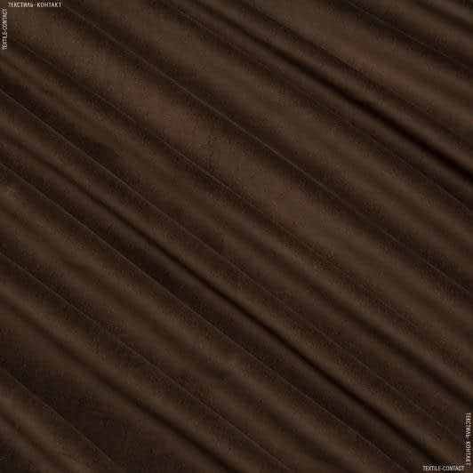Ткани для верхней одежды - Костюмный бархат темно-коричневый