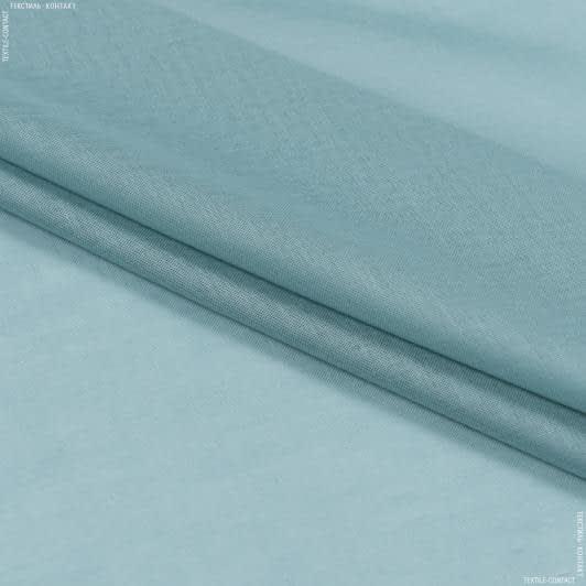 Тканини для драпірування стін і стель - Тюль  батист  люсент/lucent блакитна ялина
