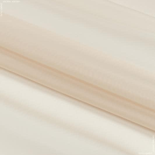 Ткани для драпировки стен и потолков - Тюль  вуаль  св. глина