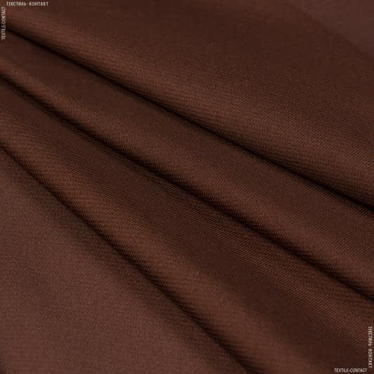 Ткани для платков и бандан - Шелк искусственный коричневый