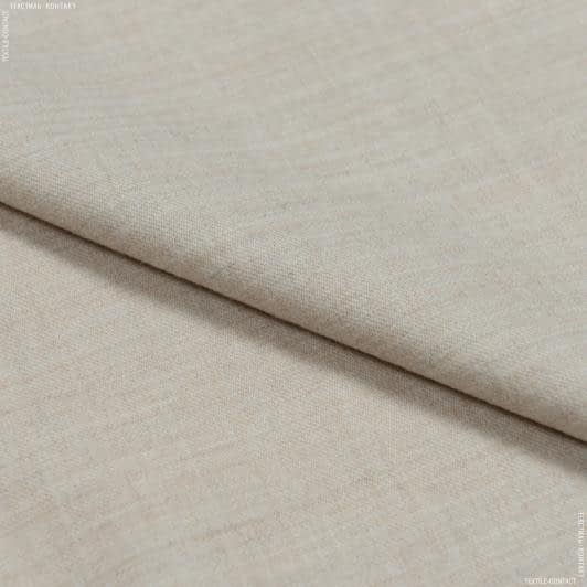 Ткани для брюк - Костюмная marzotto меланж светло-бежевый