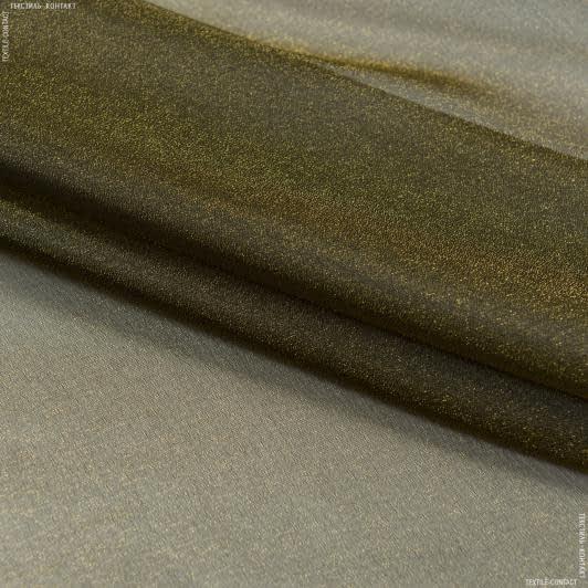 Ткани для тюли - Тюль  с утяжелителем мус /muz   хаки