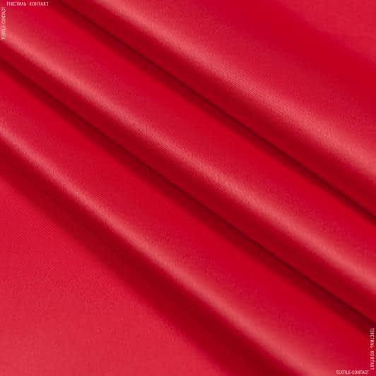 Тканини для костюмів - Атлас щільний стрейч яскраво-червоний
