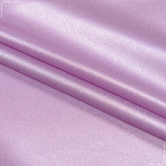 Тканини для суконь - Креп-сатин бузковий