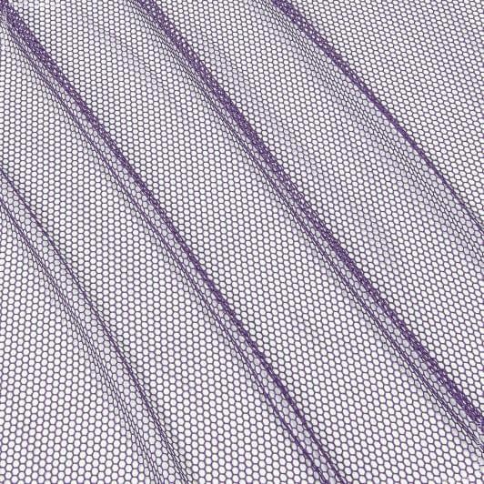 Тканини гардинні тканини - Тюль  сітка соти   фіолет