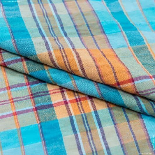 Тканини для костюмів - Платтяна жатка принт