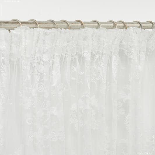 Тканини ненатуральні тканини - Декоративна тюль гіпюр естера молочний 300/270  см