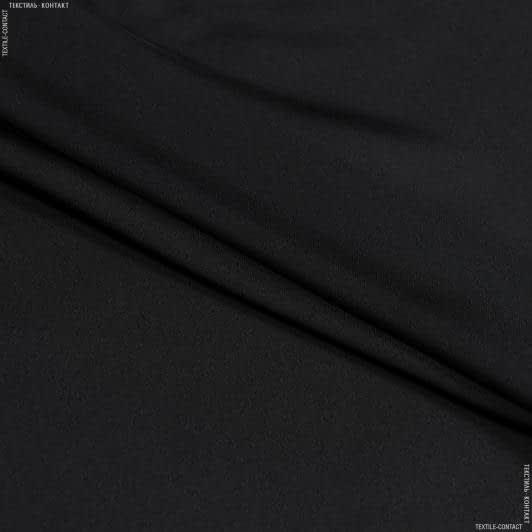 Ткани для платков и бандан - Шелк искусственный черный