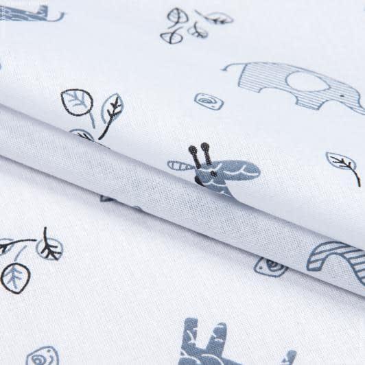 Ткани для детского постельного белья - Бязь набивная детская жираф