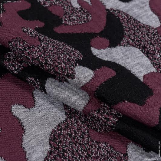 Ткани для верхней одежды - Трикотаж фукро принт
