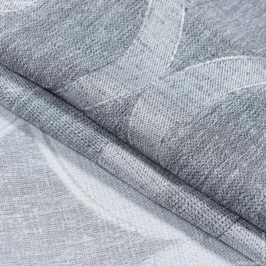 Ткани гардинные ткани - Тюль  с утяжелителем прага жаккард деграде /praga  /серый
