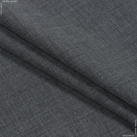 Ткани для брюк - Костюмная  miss меланж серый