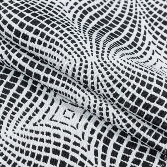 Ткани портьерные ткани - Жаккард матти-6/mattie-6   черный