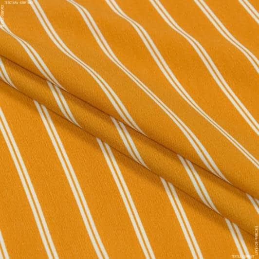 Ткани для костюмов - Костюмный креп охра