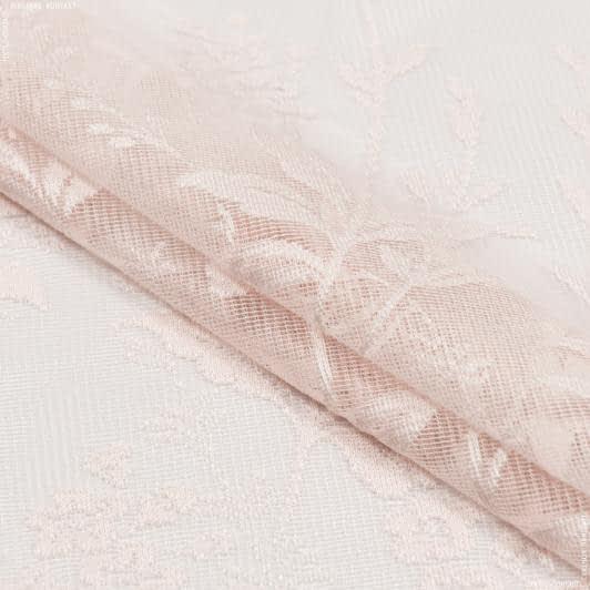 Тканини гардинні тканини - Гардинне полотно гіпюр рожевий