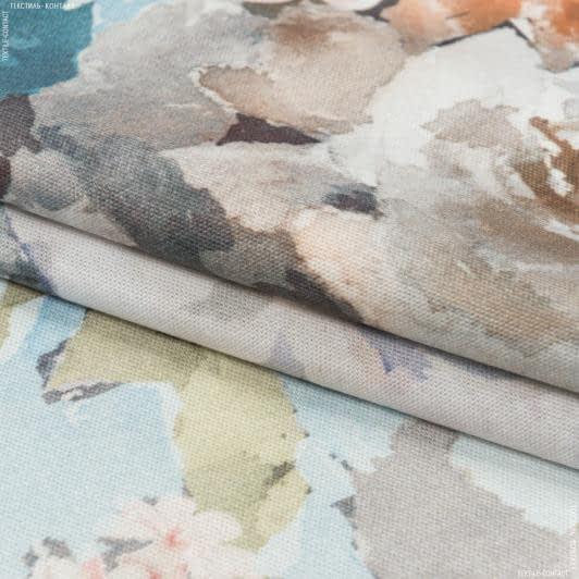 Ткани портьерные ткани - Декоративная ткань  росас картина/rosas  голубой, розовый