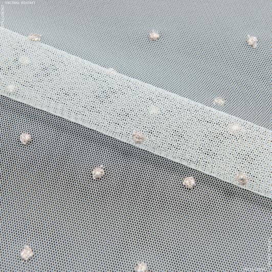 Ткани для тюли - Тюль вышивка Евгения розовый