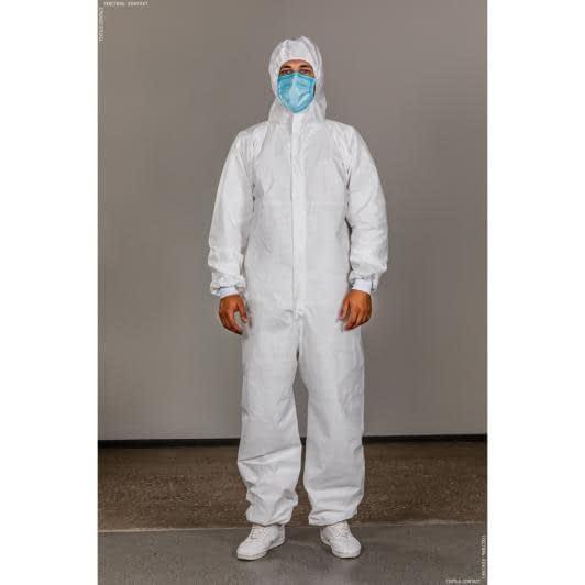 Ткани защитные костюмы - Комбинезон защитный многоразовый TYVEK 500 Xpert белый L
