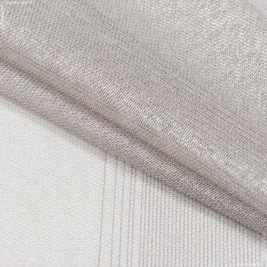 Ткани для тюли - Тюль   кармен купон полоса экрю,т.беж