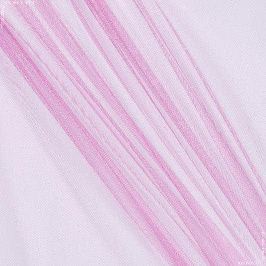 Тканини для суконь - Фатин блискучий світло-малиновий