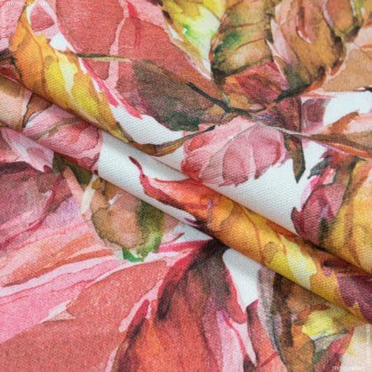 Ткани портьерные ткани - Декоративная ткань  листья терракот